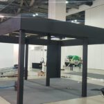 Exhibition Booth Wood Frame Skeleton Setup